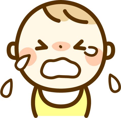 号泣赤ちゃんのイラスト