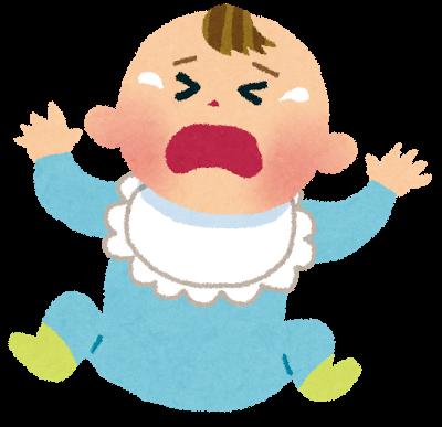 赤ちゃんが泣いているイラスト
