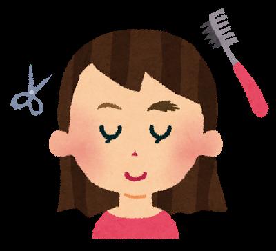 眉毛を整えている妊娠中の女性のイラスト
