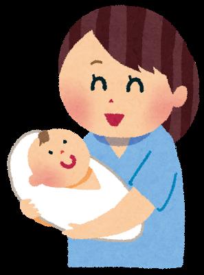 赤ちゃんを抱っこする人のイラスト
