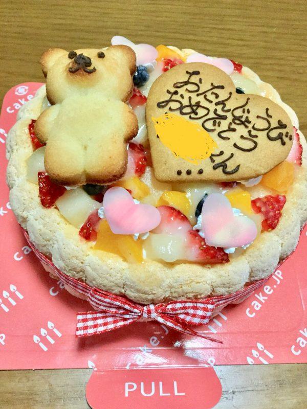 cake.jpサイトのクマちゃんケーキと実物の比較