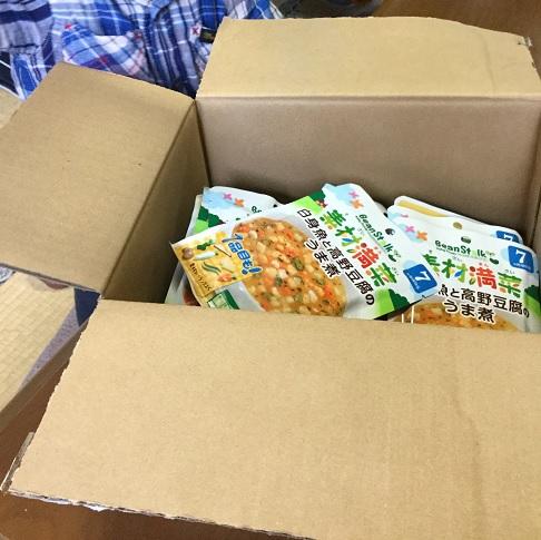 箱には4種類(合計24食)分の離乳食が!