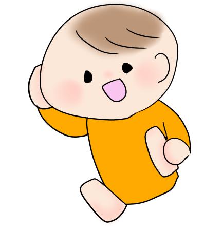 赤ちゃんが足をつかんでうふーんしているポーズ